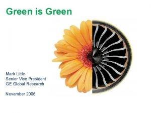 Green is Green Mark Little Senior Vice President