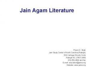 Jain Agam Literature Pravin K Shah Jain Study