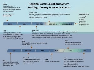 Regional Communications System San Diego County Imperial County