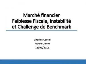March financier Faiblesse Fiscale Instabilit et Challenge de