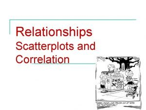 Relationships Scatterplots and Correlation Relationships Scatterplots and correlation
