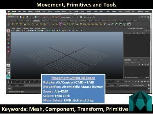 Movement Primitives and Tools Movement within 3 D