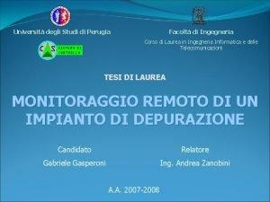 Facolt di Ingegneria Universit degli Studi di Perugia
