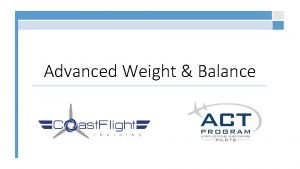 Advanced Weight Balance Why Does Weight Matter Aircraft