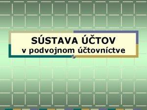 SSTAVA TOV v podvojnom tovnctve ET M DA