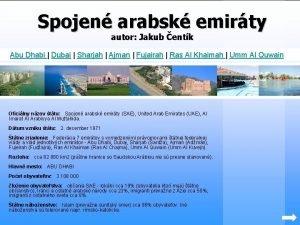 Spojen arabsk emirty autor Jakub entk Abu Dhabi