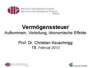 Vermgenssteuer Aufkommen Verteilung konomische Effekte Prof Dr Christian