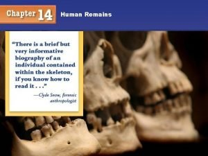 Human Remains Human Remains Objectives You will understand