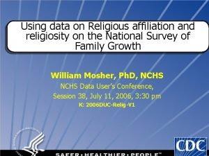 Using data on Religious affiliation and religiosity on