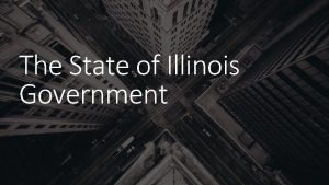 The State of Illinois Government The Illinois Constitution