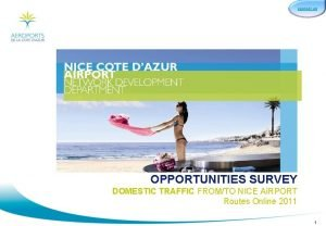 CONTACT US OPPORTUNITIES SURVEY DOMESTIC TRAFFIC FROMTO NICE