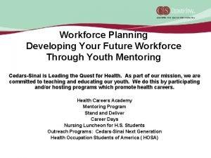 Workforce Planning Developing Your Future Workforce Through Youth