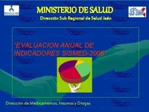 MINISTERIO DE SALUD Direccin Sub Regional de Salud
