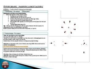 VNINGSBANK PASSNING MOTTAGNING STEG 1 Individuell trning passningar