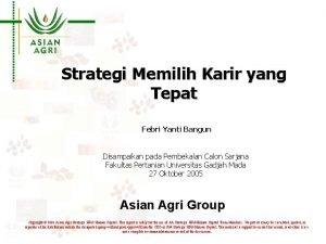 Strategi Memilih Karir yang Tepat Febri Yanti Bangun