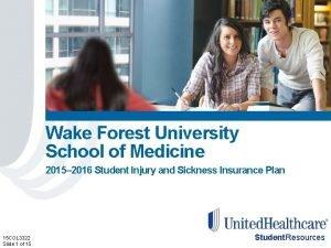 Wake Forest University School of Medicine 2015 2016