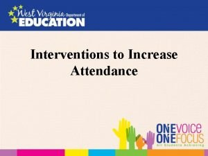 Interventions to Increase Attendance Why Focus on Attendance