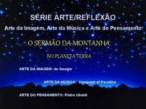 SRIE ARTEREFLEXO Arte da Imagem Arte da Msica