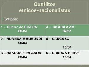 Conflitos etnicosnacionalistas Grupos 1 Guerra da BIAFRA 0804