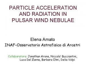 PARTICLE ACCELERATION AND RADIATION IN PULSAR WIND NEBULAE
