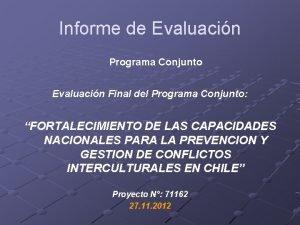 Informe de Evaluacin Programa Conjunto Evaluacin Final del