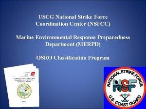 USCG National Strike Force Coordination Center NSFCC Marine