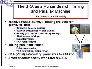 The SKA as a Pulsar Search Timing and
