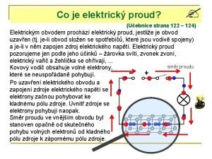 Co je elektrick proud Uebnice strana 122 124
