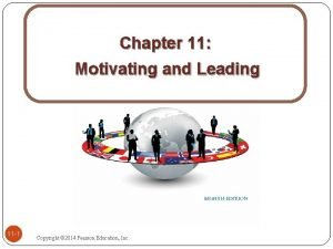 Chapter 11 Motivating and Leading 11 1 Copyright