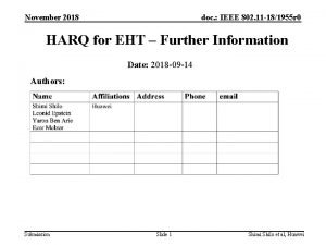 November 2018 doc IEEE 802 11 181955 r