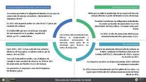 Certificados de Energa Limpia CEL Impuesto Especial sobre