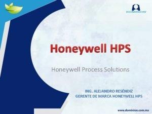 Honeywell HPS Honeywell Process Solutions ING ALEJANDRO RESNDIZ