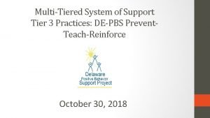 MultiTiered System of Support Tier 3 Practices DEPBS