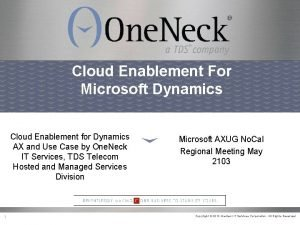 Cloud Enablement For Microsoft Dynamics Cloud Enablement for