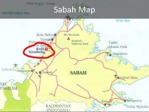 Sabah Map Sabah capital town Api Kota Kinabalu