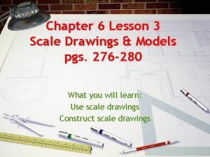 Chapter 6 Lesson 3 Scale Drawings Models pgs