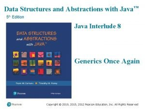 Data Structures and Abstractions with Java 5 th