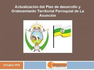Actualizacin del Plan de desarrollo y Ordenamiento Territorial