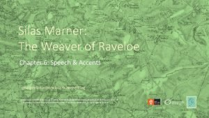Silas Marner The Weaver of Raveloe Chapter 6