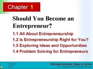 Chapter 1 Should You Become an Entrepreneur 1