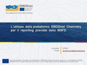 Lutilizzo della piattaforma EMODnet Chemistry per il reporting