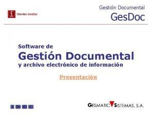 Gestin Documental Ges Doc Clientes Ges Doc Software