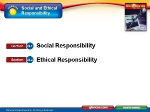 24 Social and Ethical Responsibility Section 24 1