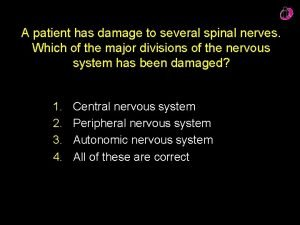 A patient has damage to several spinal nerves