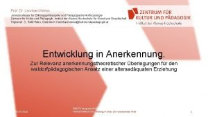 Prof Dr Leonhard Weiss Juniorprofessor fr Bildungsphilosophie und