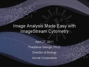 Image Analysis Made Easy with Image Stream Cytometry