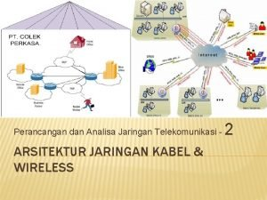 Perancangan dan Analisa Jaringan Telekomunikasi ARSITEKTUR JARINGAN KABEL