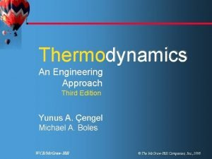 engel Boles Thermodynamics An Engineering Approach Third Edition