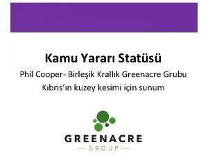 Kamu Yarar Stats Phil Cooper Birleik Krallk Greenacre
