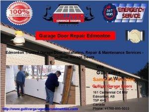 Garage Door Repair Edmonton Trusted Garage Door Installation